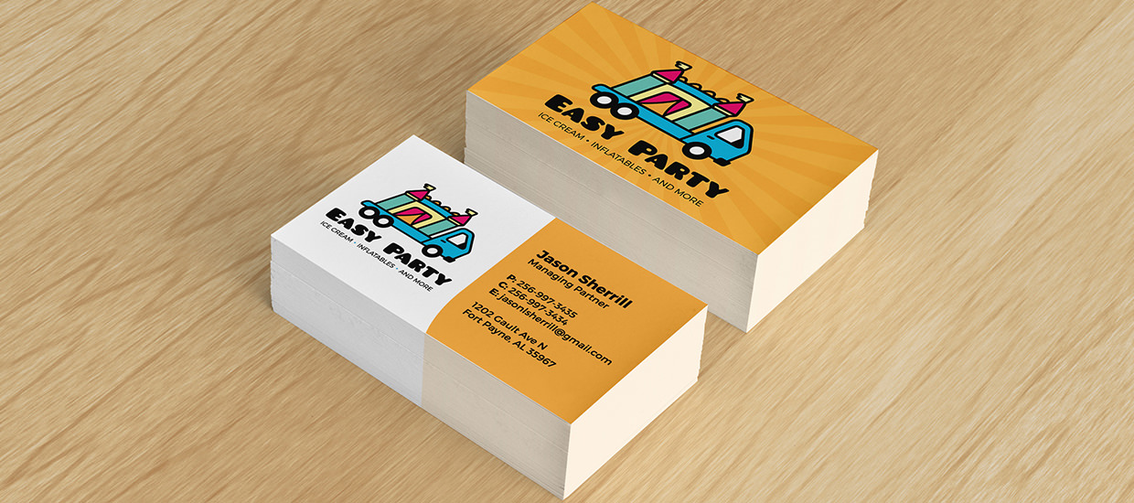 Business Card design for Easy Party.