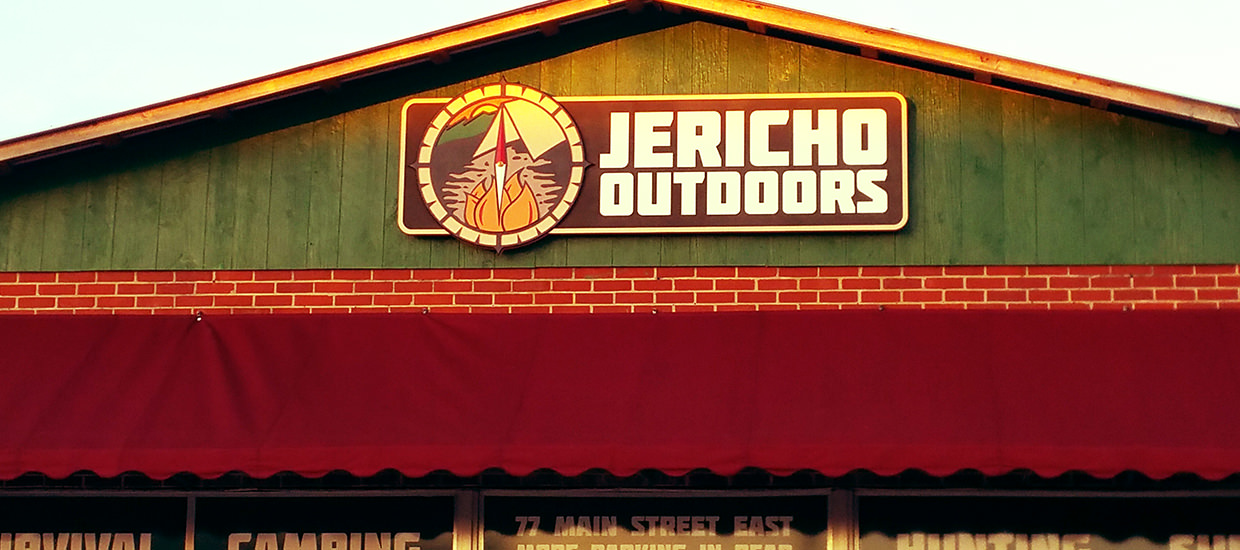 Sandblasted Sign For Jericho Outdoors, An Outdoor Supply Store In Northeast  Alabama.