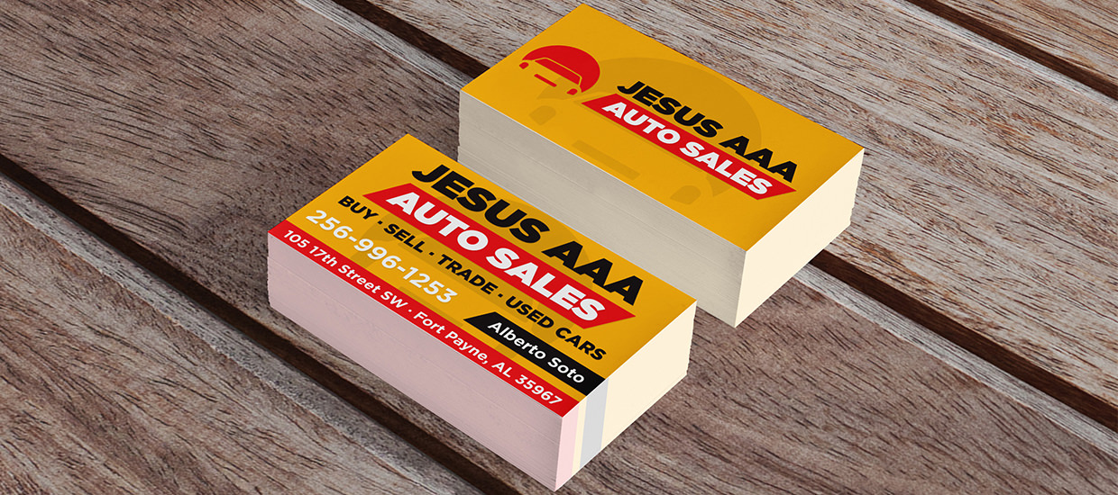 Accel graphics auto sales dealership business card design business cards for jesus aaa auto sales reheart Image collections
