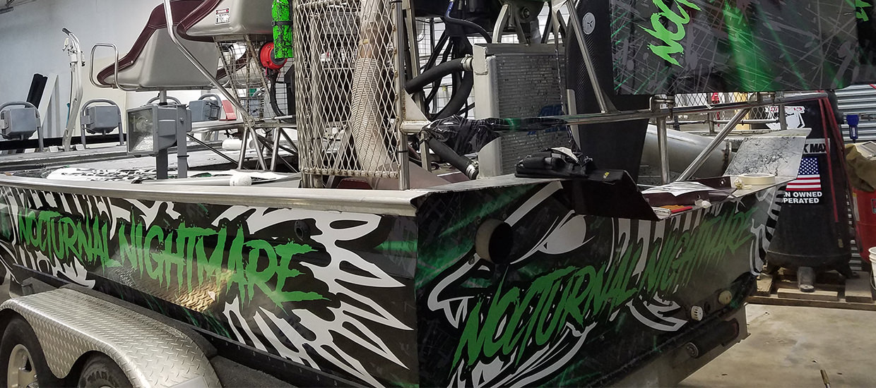 Nocturnal Nightmare airboat wrap.