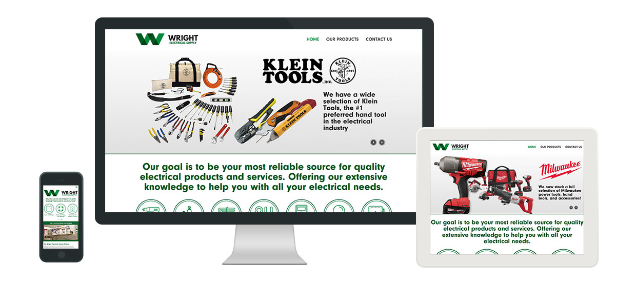 Wright Electrical Logo, Branding, & Responsive Website Design