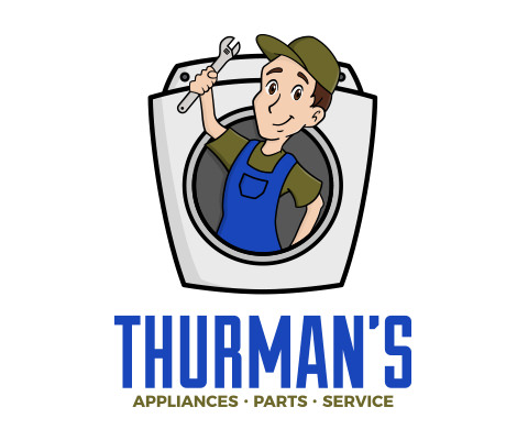 Thurman's - Used Appliance Repair Company Logo Design