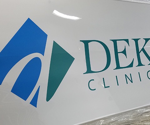 DeKalb Clinic South Lighted Sign