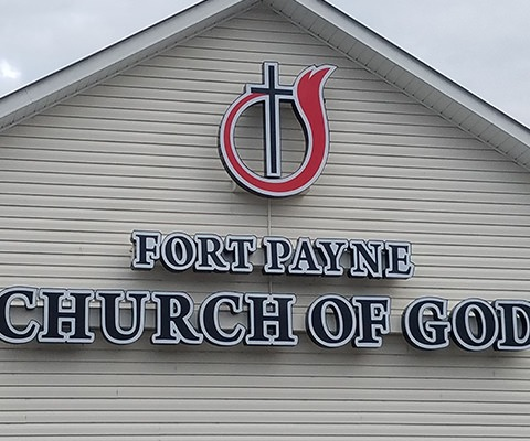 Fort Payne Church of God Channel Letters