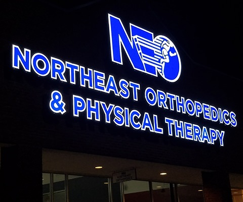 Northeast Orthopedics and Physical Therapy Lighted Channel Letter Sign