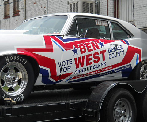 Ben West - Political Candidate Muscle Car Wrap