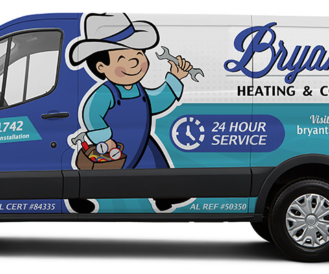 Bryant's Heating & Cooling - HVAC Van Wrap
