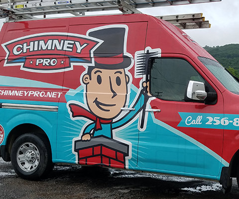 Chimney Pro - Chimney Sweep Vehicle Wrap