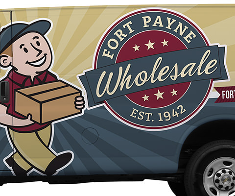 Fort Payne Wholesale - Wholesale Supply Company Vehicle Wrap