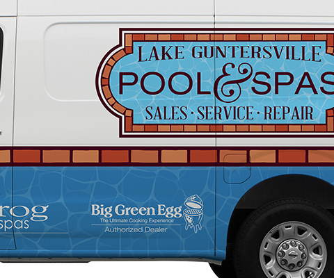 Lake Guntersville Pool & Spas - Pool Supplies Vehicle Wrap