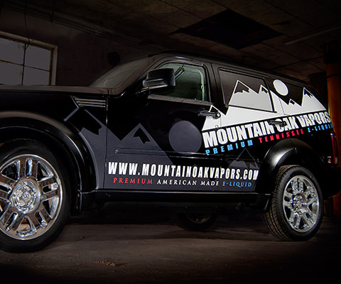 Mountain Oak Vapors - Vaporizer Shop Vehicle Wrap