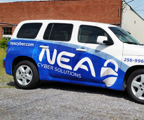 NEA Cyber Solutions - Computer Consulting Car Wrap