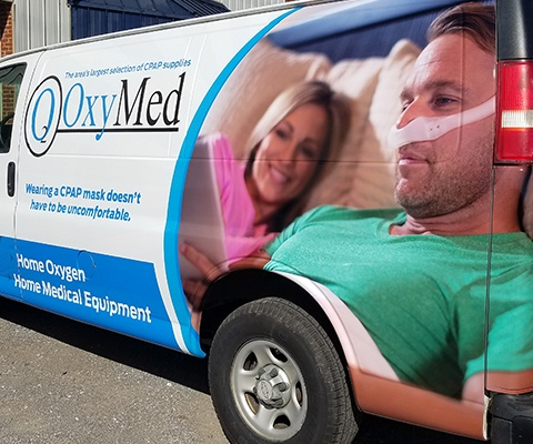 OxyMed - Medical Oxygen Supply Vehicle Wrap