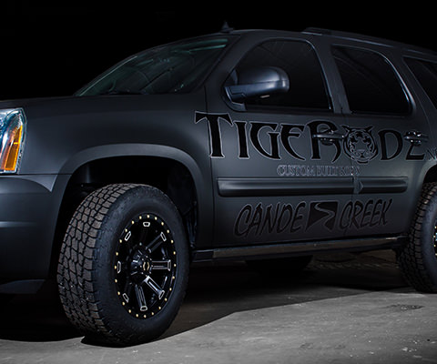 Tigerodz - Fishing Rod Company Color Change Vehicle Wrap