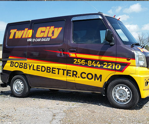 Twin City Used Car Sales - Used Car Dealer Vehicle Wrap