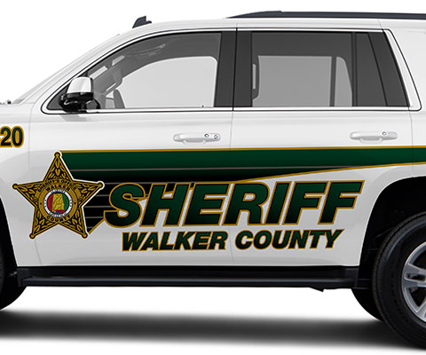 Walker County Sherriff Tahoe Lettering Design