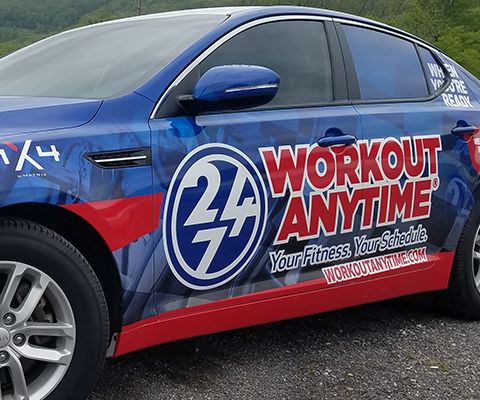 Workout Anytime - Fitness Center Vehicle Wrap