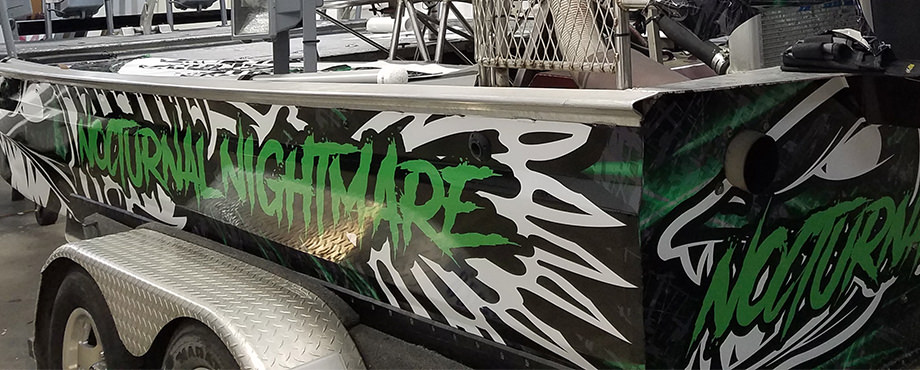 Nocturnal Nightmare Boat Wrap