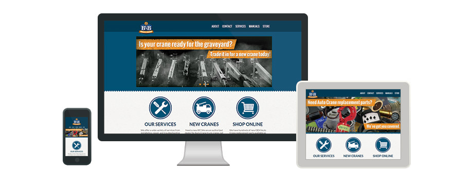 B&B Truck Crane - Web Design