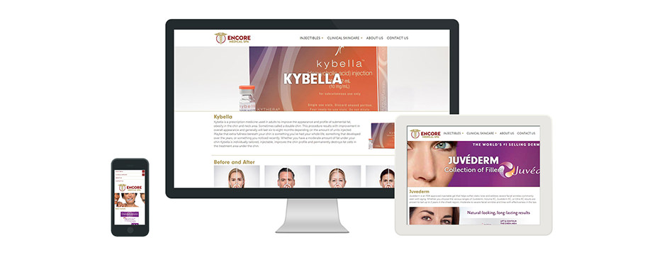 Encore Medical Spa - Web Design