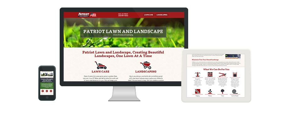 Patriot Lawn and Landscape - Web Design