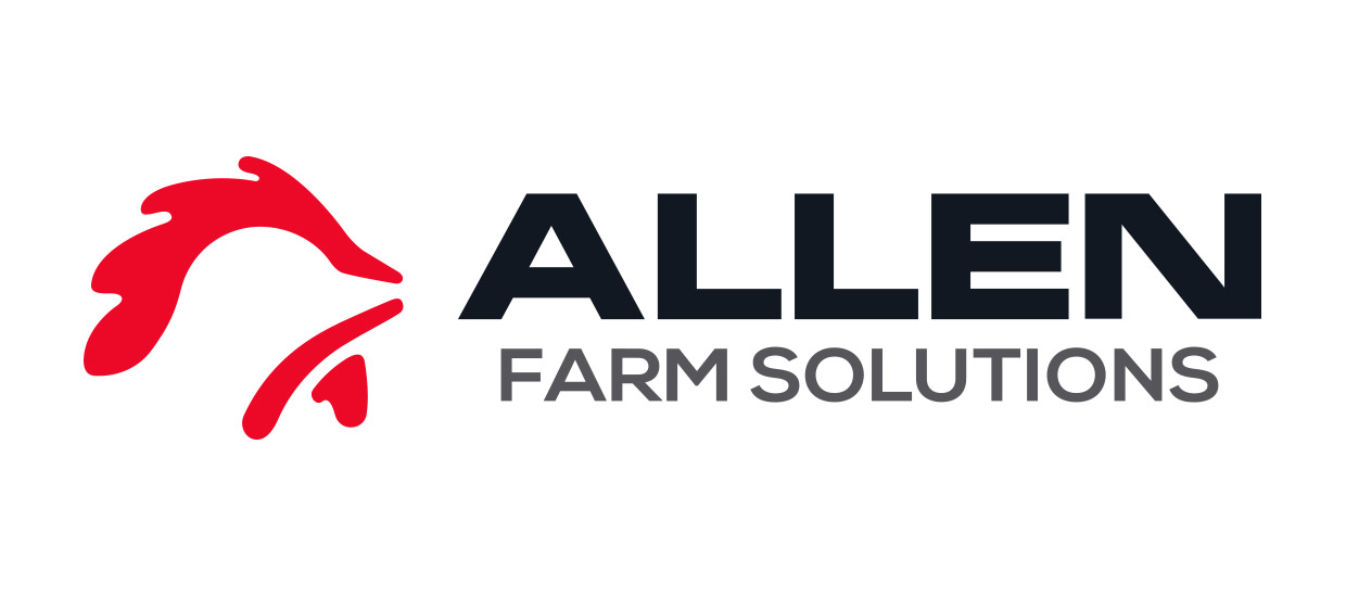 Logo and Branding Design for Allen Farm Solutions, a Cullman, Alabama poultry farming company.