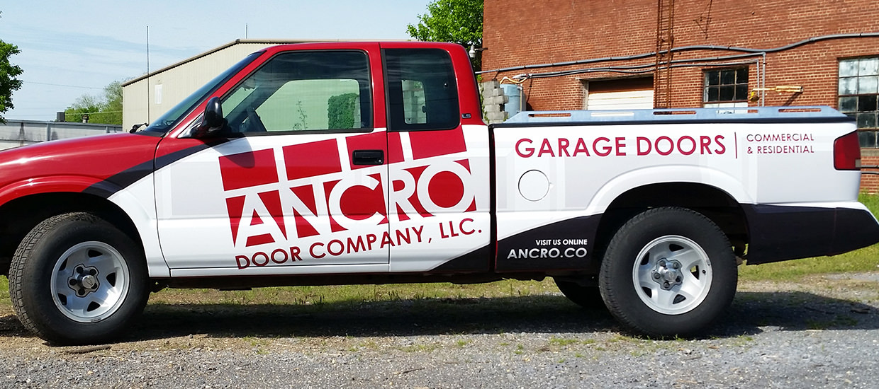 Partial truck wrap for a Fort Payne, Alabama based garage door company.