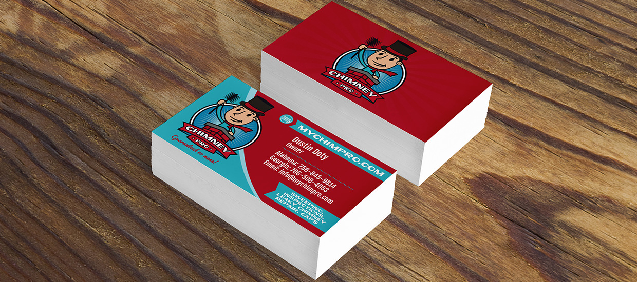 Business card design for Chimney Pro.