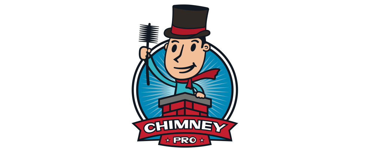 Retro logo design for Chimney Pro, a Dalton, GA chimney care company.