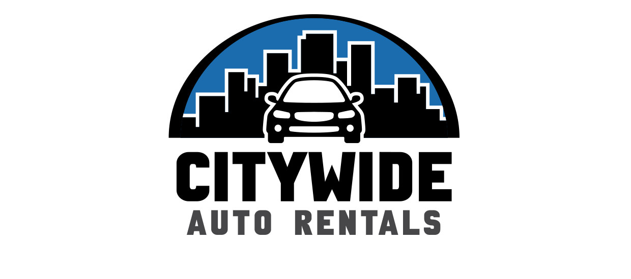 Logo and branding design for Citywide Auto Rentals, a Scottsboro, Alabama auto rental company.