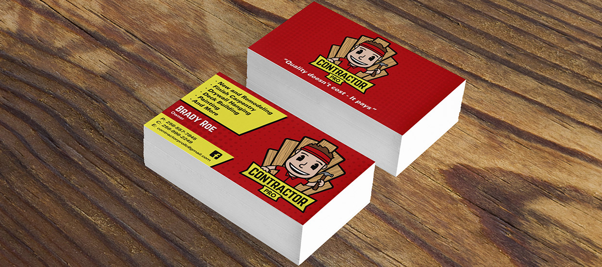 Business Cards Design for Contractor Pro, an Alabama contractor.
