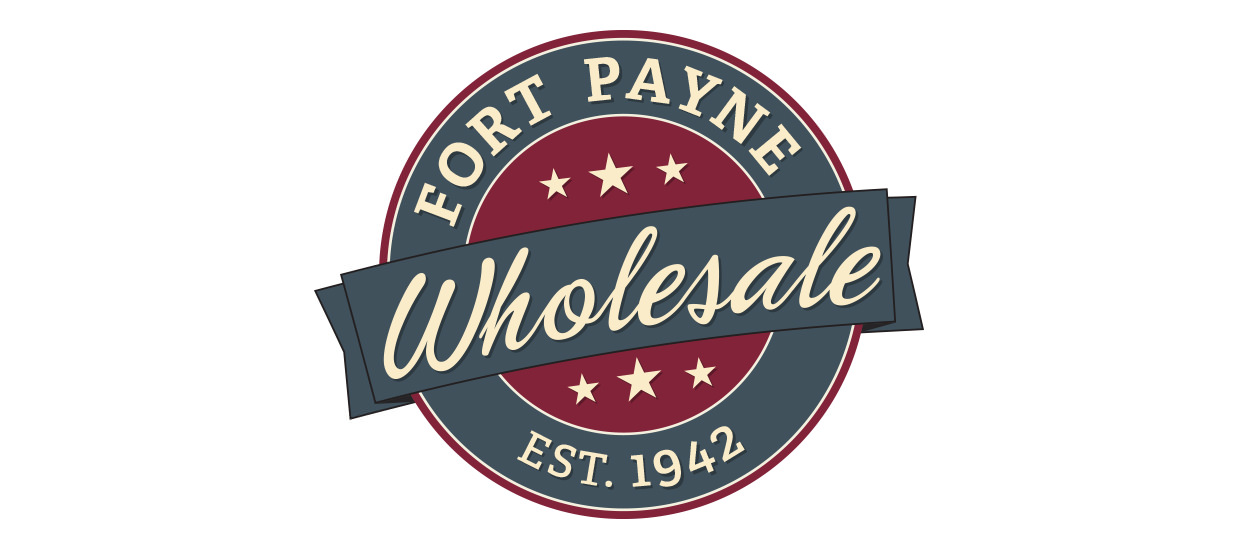 Logo design for Fort Payne Wholesale, a wholesaler serving Northeast Alabama located in Fort Payne, AL.