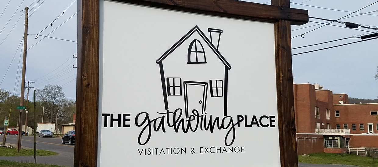 Sign and Frame for The Gathering Place.