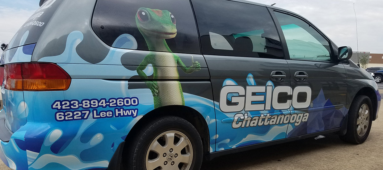Partial Van Wrap for Geico in Chattanooga, TN.