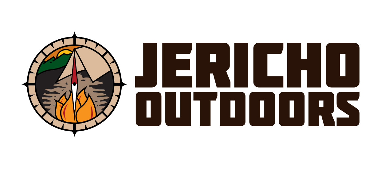 Logo design for Jericho Outdoors, an outdoor supply store located in Rainsville, AL.