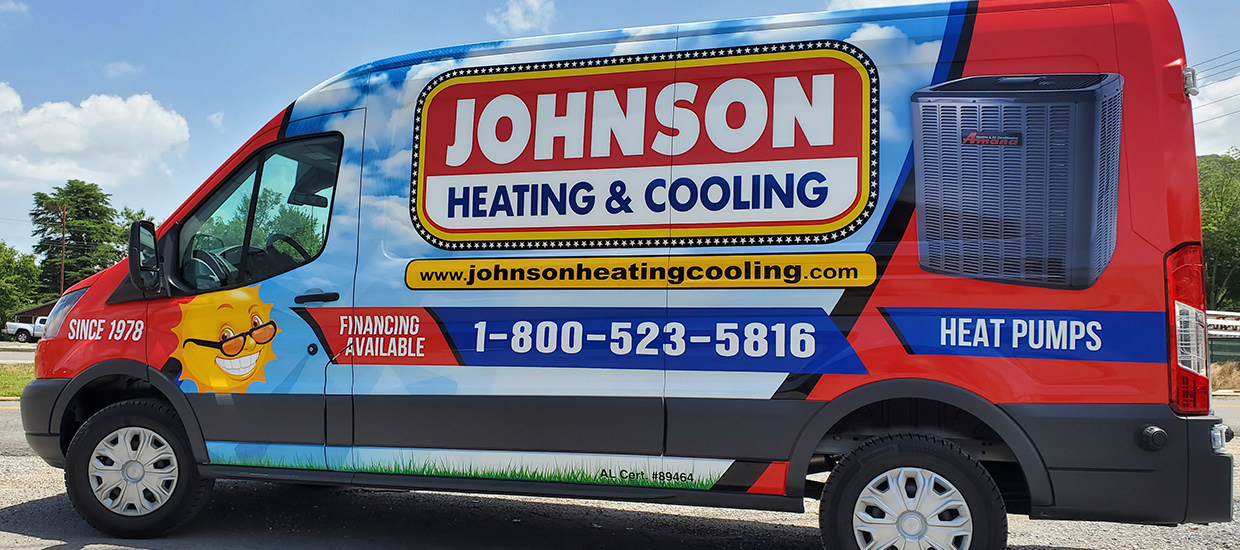 HVAC Wrap Design for Johnson Heating and Cooling.