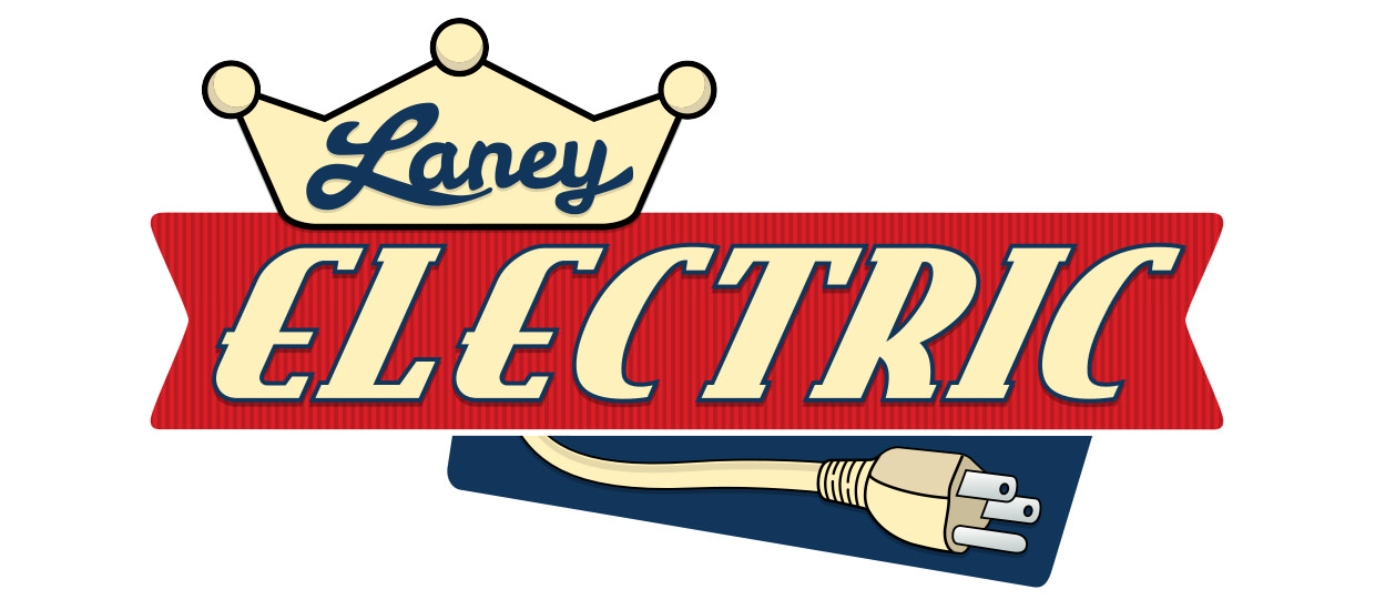 Logo design for Laney Electric, a commercial and residential electrical contractor located in Rainsville, AL.