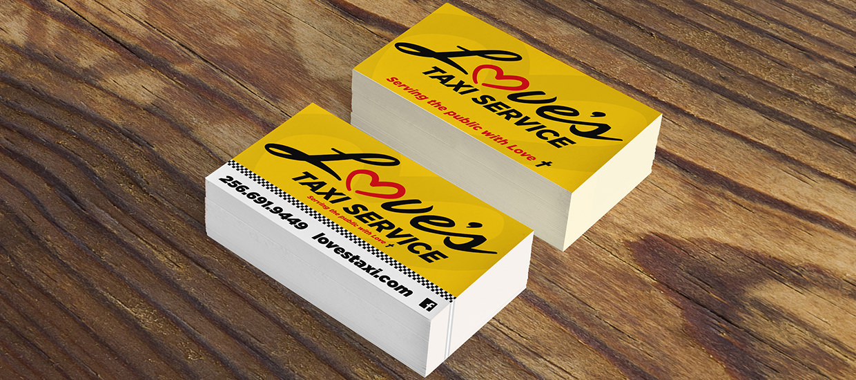Business cards for Love's Taxi Service