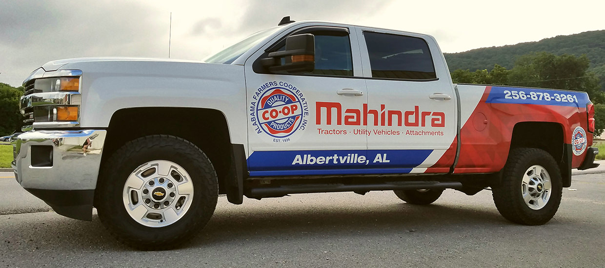 Partial Truck Wrap for Alabama Farmers Co-Op.