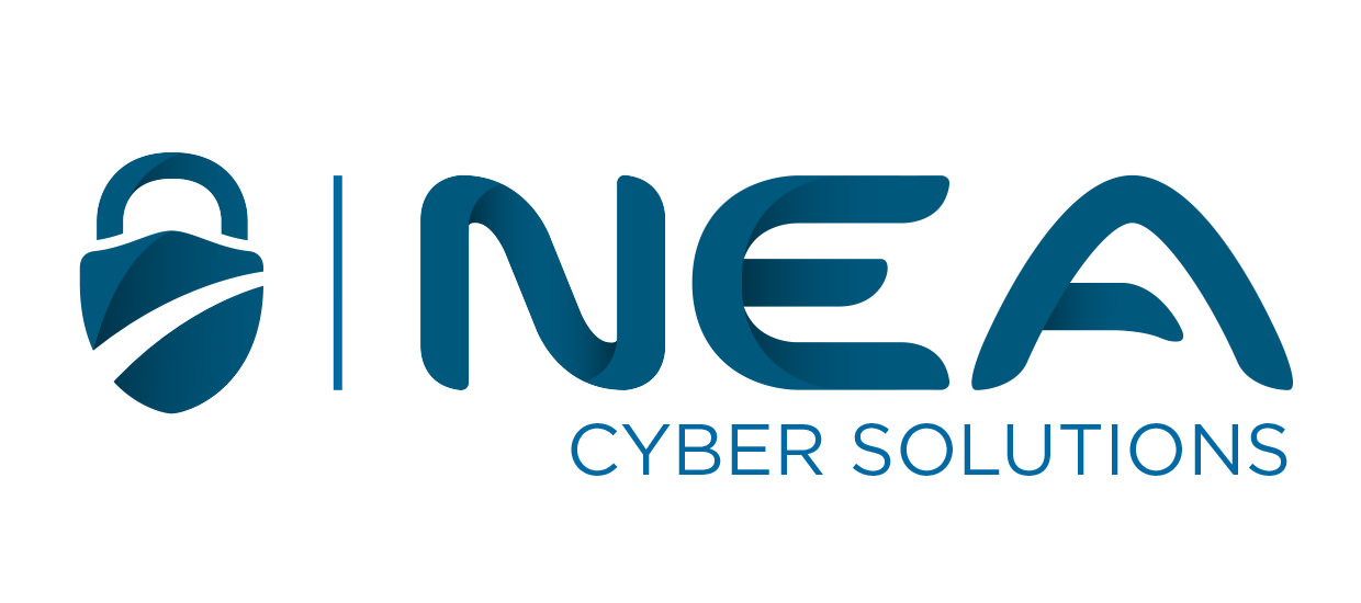 Logo design for NEA Cyber Solutions, a computer security firm located in Fort Payne, Alabama.