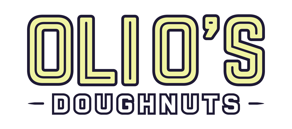 Retro logo design for Oli O's Doughnuts, an Alabama doughnut shop.