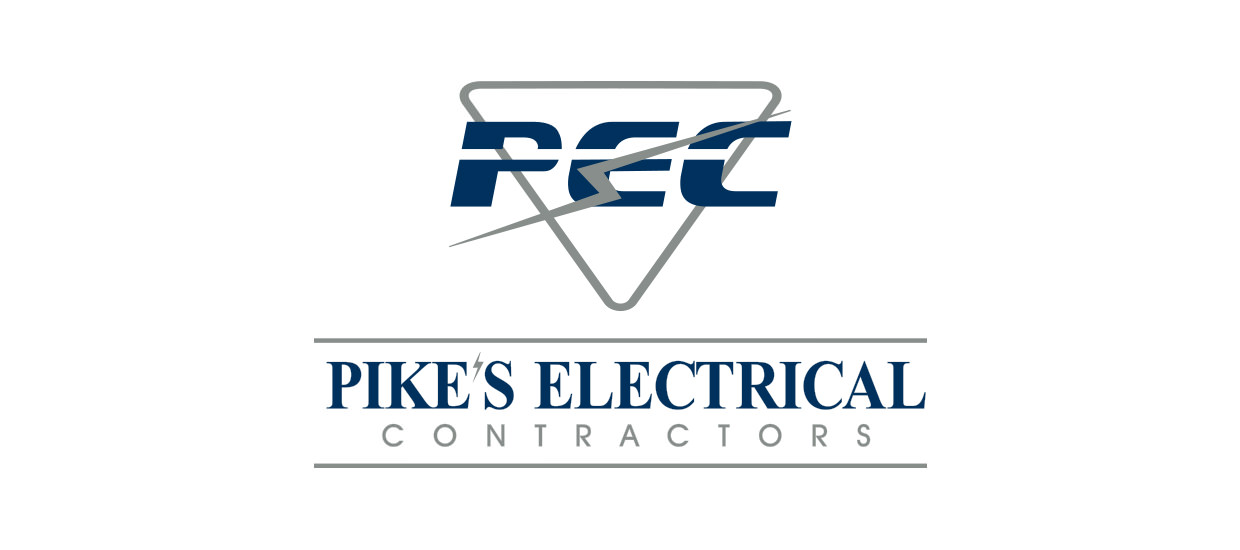 Logo for Pike's Electrical Contractors, an electrical contracting company located in Fort Payne, AL.