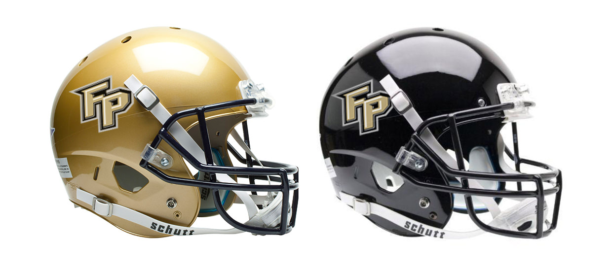 Football helmet decals for Fort Payne High School.