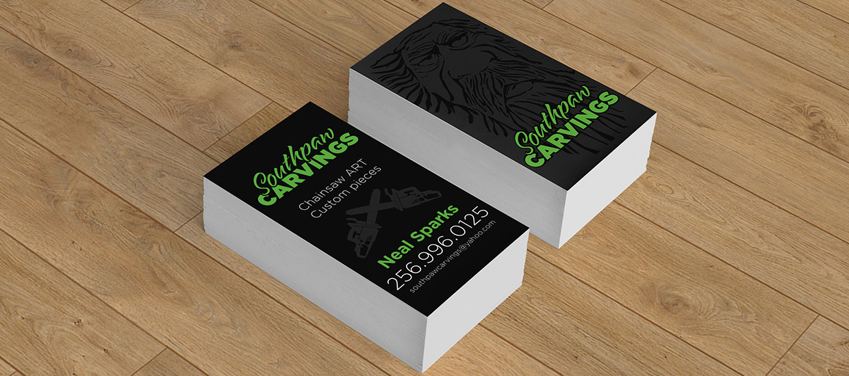 Business cards for Southpaw Carvings