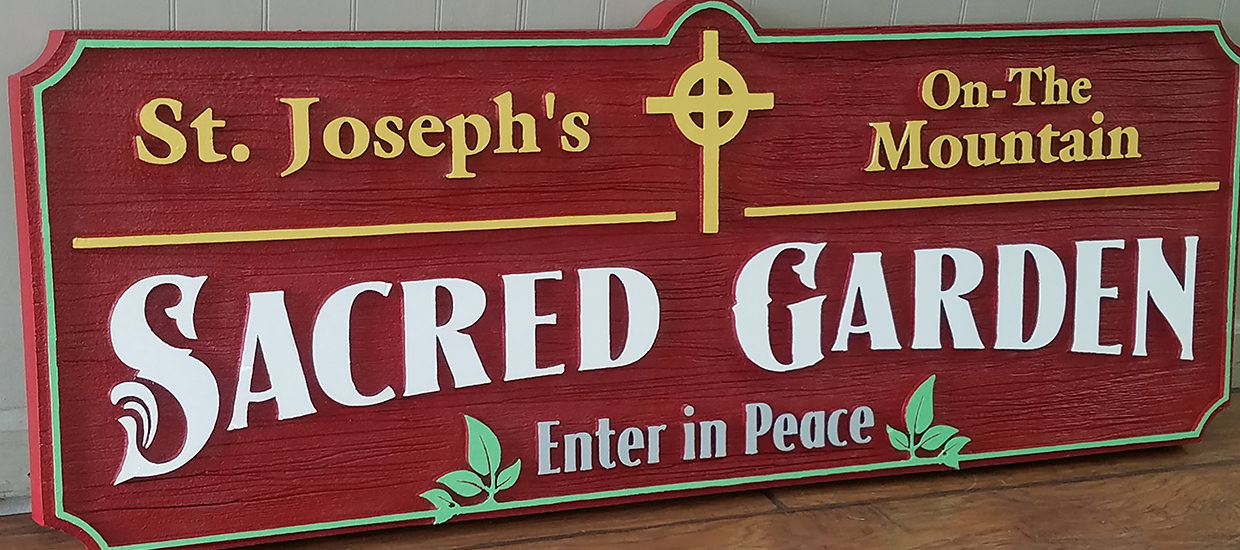 Routed Dimensional Sign for St. Joseph's On-The-Mountain.