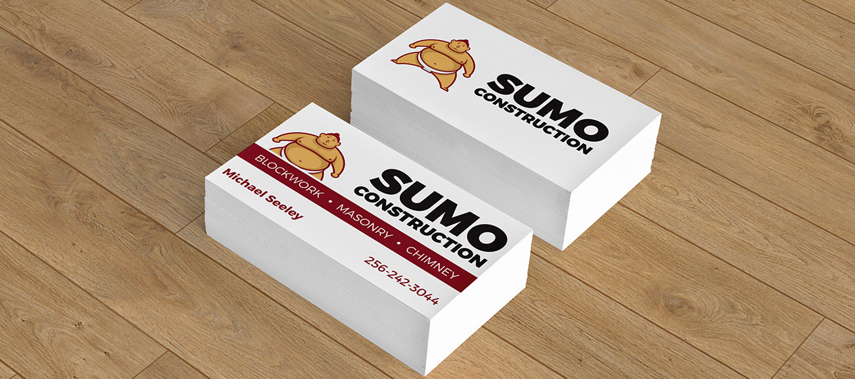 Business cards for Sumo Construction