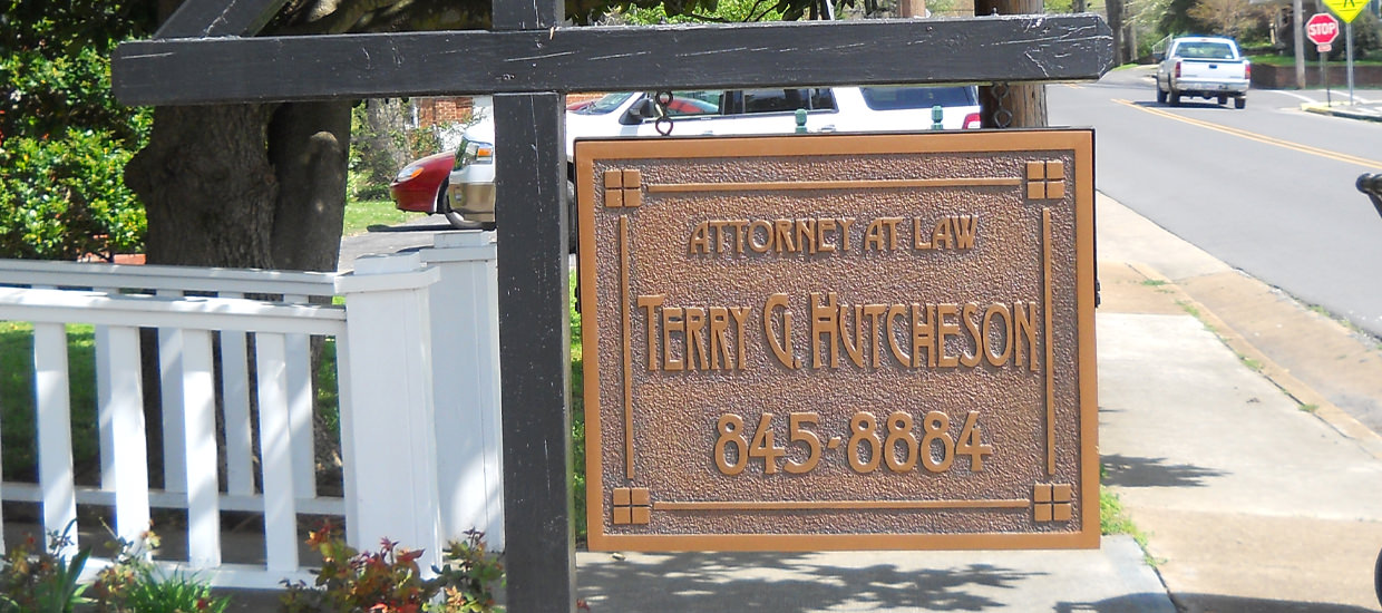 Sandblasted Sign Fort Payne, AL for Terry G. Hutcheson.