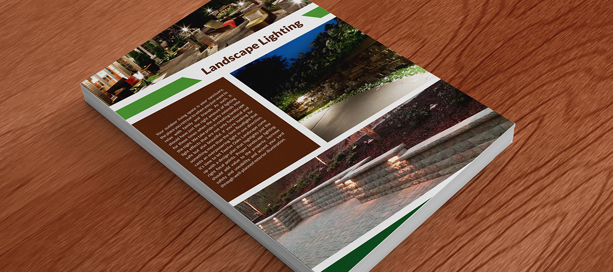 Fold-out brochure design for Twelve Oaks Landscape Co.