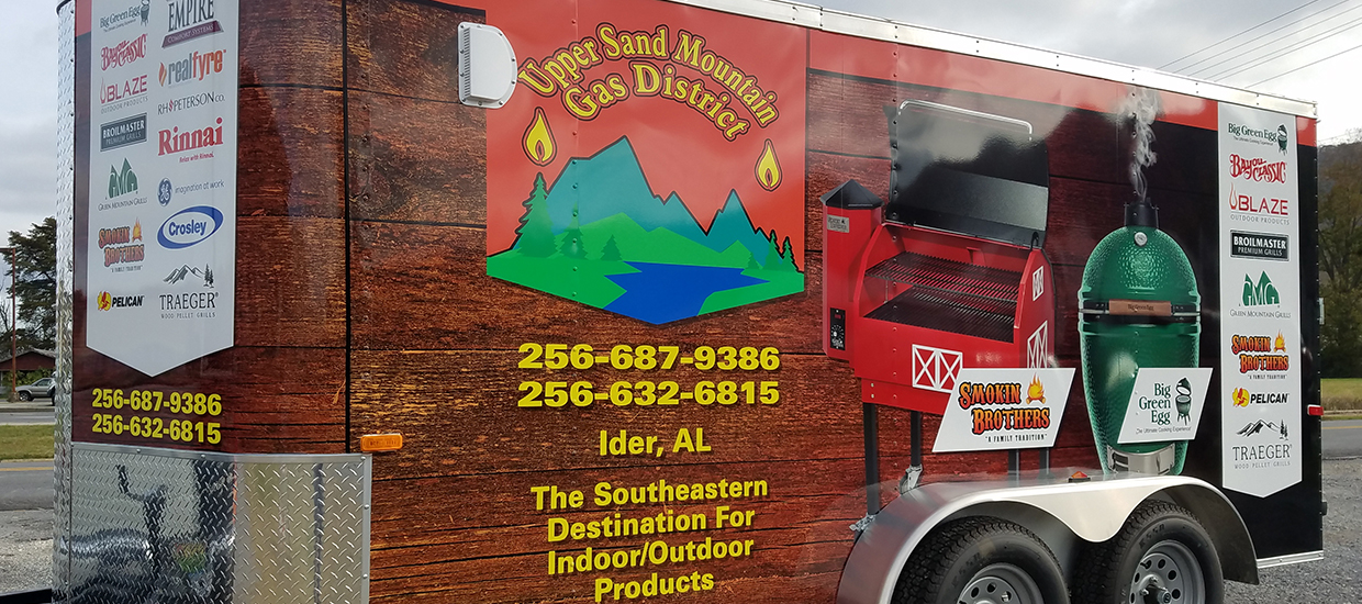 Trailer Wrap for Upper Sand Mountain Gas District in Ider, AL.