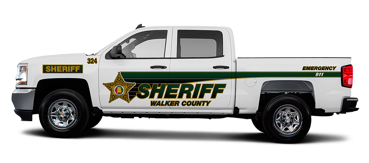 Silverado Lettering Design for Walker County Sheriff.